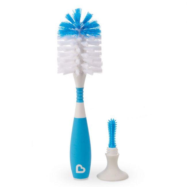 Munchkin - Bristle Bottle Brush Blue