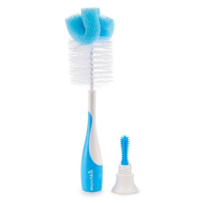 Munchkin - Sponge Bottle Brush Blue