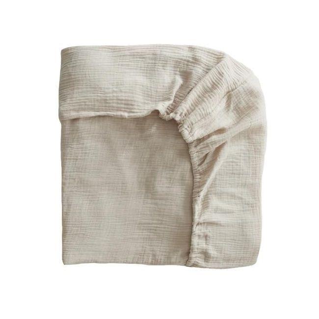 Mushie - Crib Sheet Fog