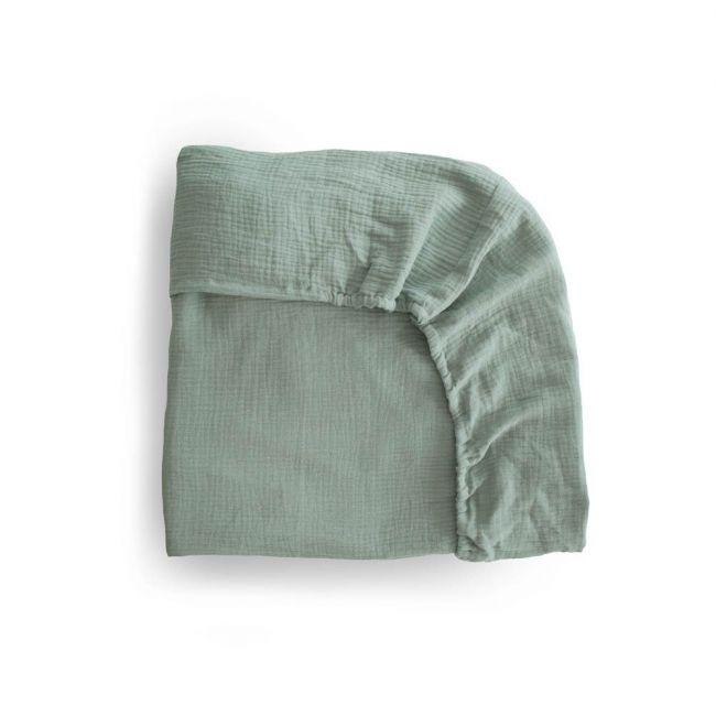 Mushie - Crib Sheet Roman - Green