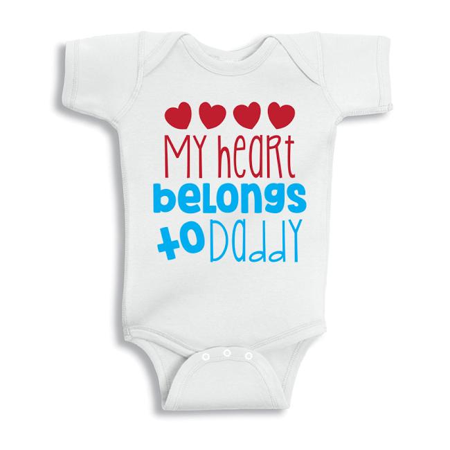 Twinkle Hands My heart belongs to daddy, Baby Onesie, Bodysuit, Romper