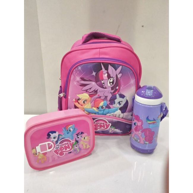 EM - My Little Pony Bundle Cartoon Bag Lunch Box Water Bottle For Kids