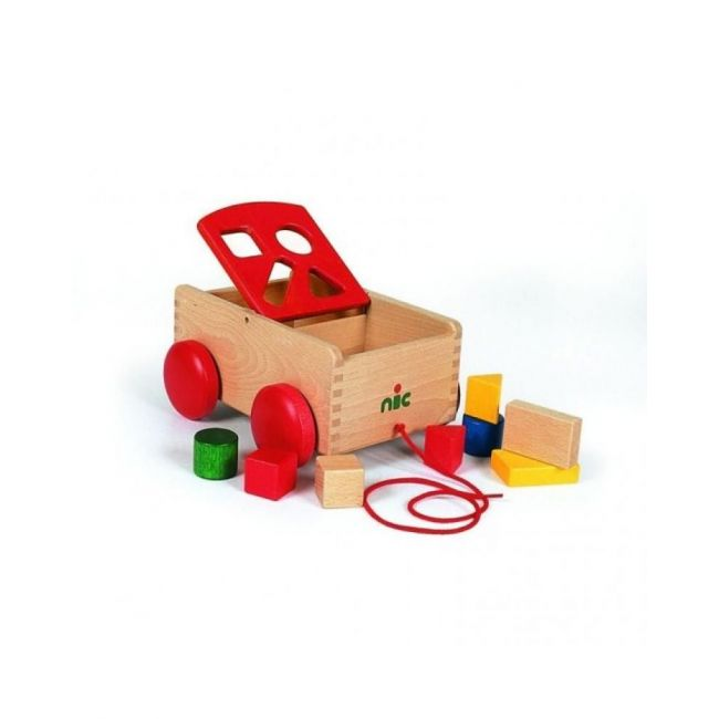 NIC Carriage with shape sorter, red