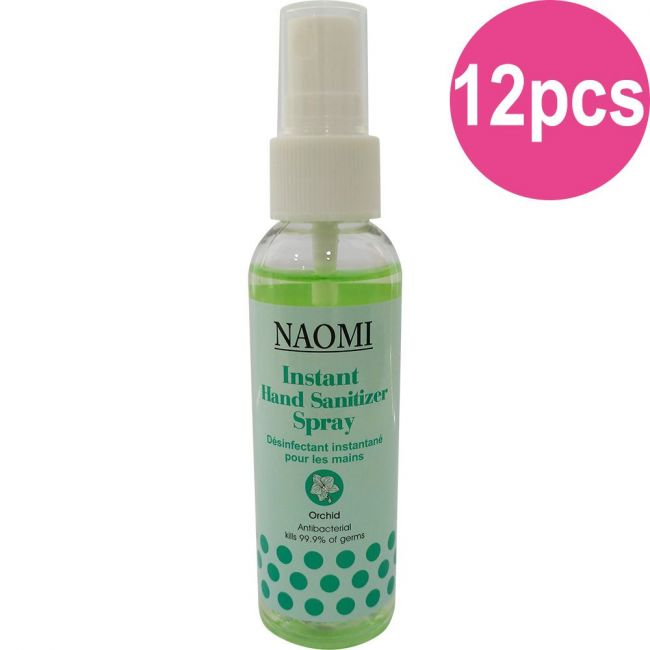 Naomi Instant Hand Sanitizer Spray 60ml - Orchid - 12pc