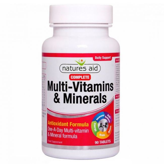 Natures Aid - Complete Multi-Vitamins & Minerals - 90 Tablets
