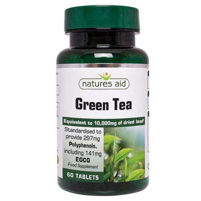 Natures Aid -  Green Tea 10000mg - 60 Tablets