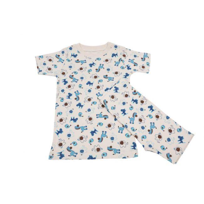 Natures naughty - Organic Cotton Kids T-Shirt and Shorts set with Animal Print
