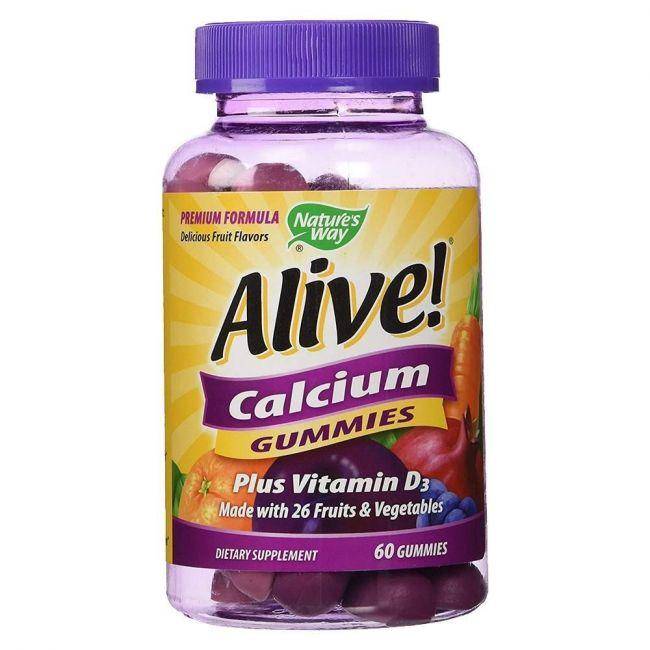 Nature's Way Alive Calcium + D3 Gummies 60's