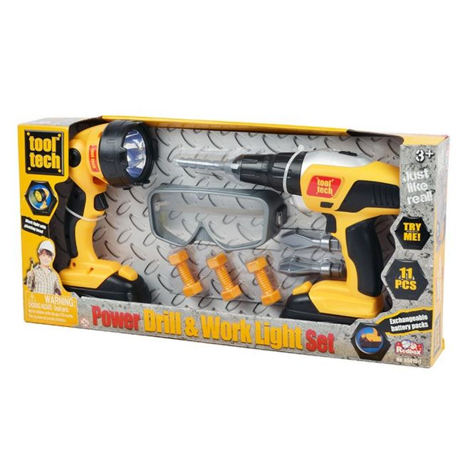 Power Drill and work Light Set