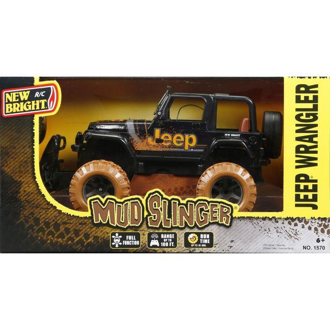 New Bright - 1 15 R C Full Function Mud Slinger Jeep Wrangler