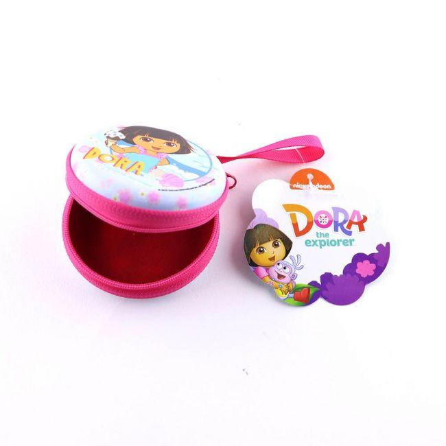 Nickelodeon - Dora The Explorer Metal Tin Case Pouch-Earphone, Coins, Memory Card