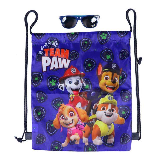 Nickelodeon - Paw Patrol Printed Drawstring Bag With Sunglasses