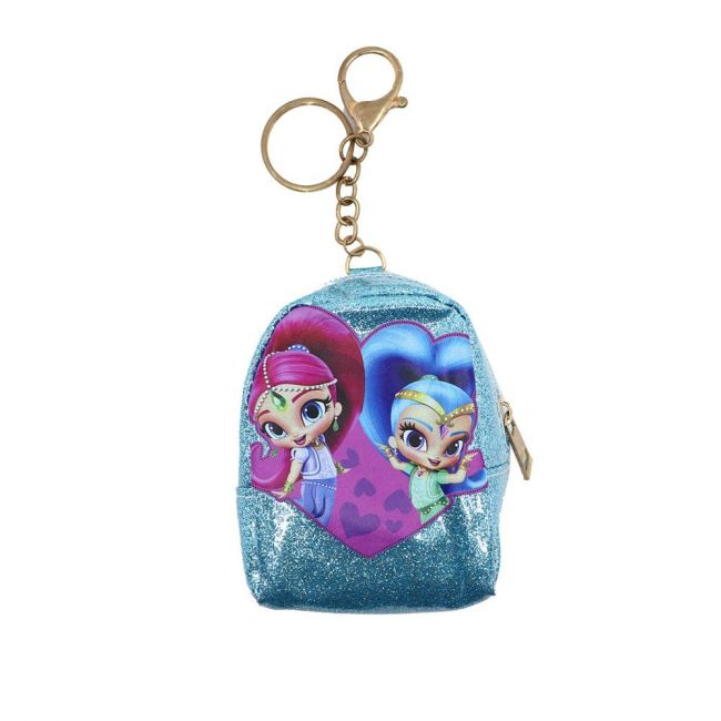 Nickelodeon - Shimmer And Shine Keyring With Coin Pouch Glitter Badge Print Pouch