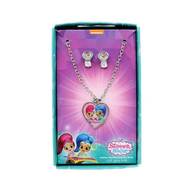 Nickelodeon - Shimmer & Shine Metal Necklace & Ear Rings Set