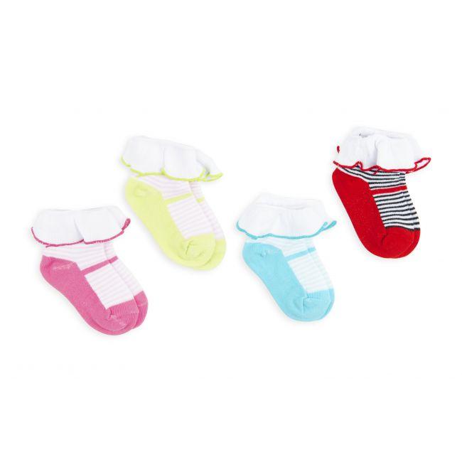 Night Angel -  Socks - Frill and Stripes - 0-24M - 4 Pair