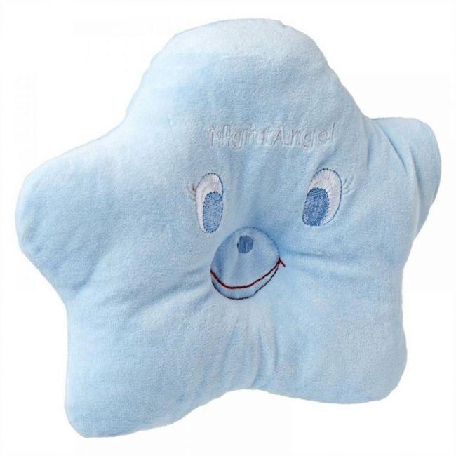 Night Angel Blue Star Baby Pillow