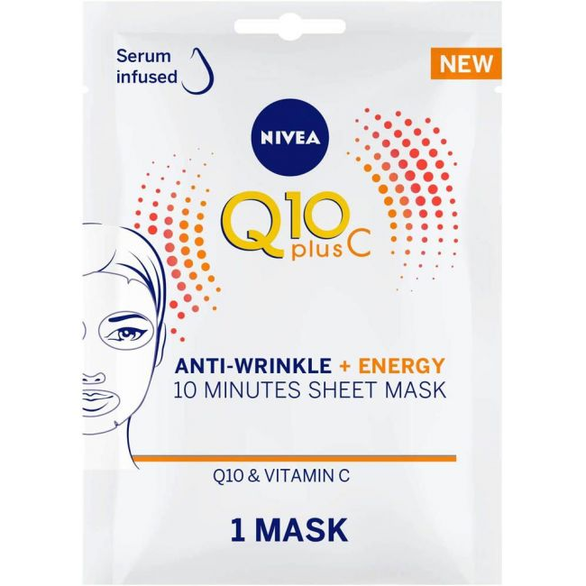 Nivea - Face Q10 Plus C Anti Wrinkle + Energy Sheet Mask 1Pc