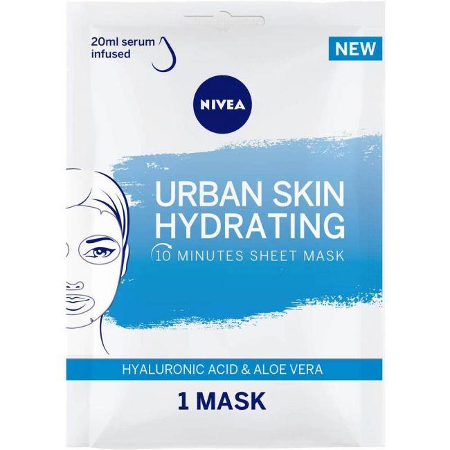 Nivea - Face Urban Skin Hydrating Sheet Mask Hyaluronic Acid & Aloe Vera 1Pc