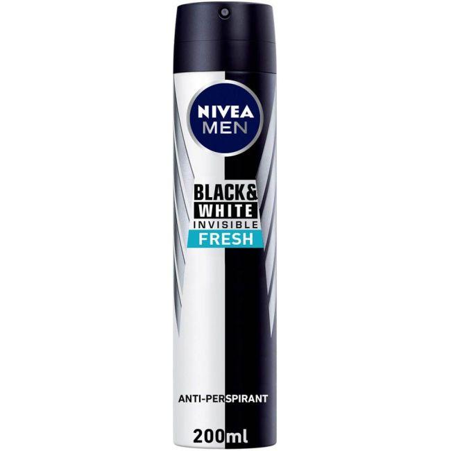 Nivea - Men Deo Spray Black & White Fresh 200Ml