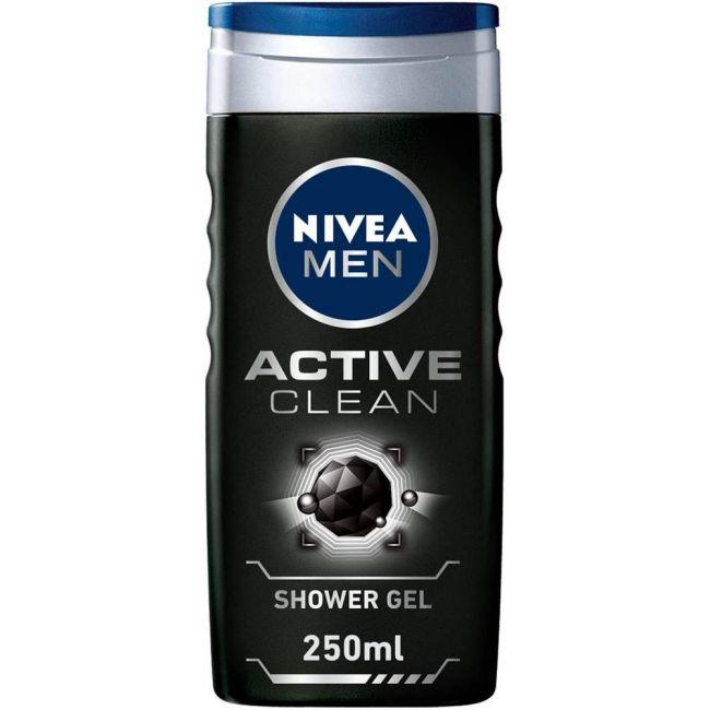 Nivea - Men Shower Gel Active Clean Charcoal 250Ml
