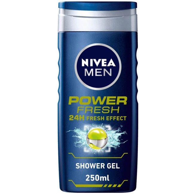 Nivea - Men Shower Gel Power Fresh 250Ml