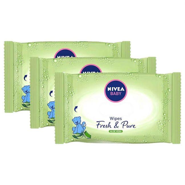 Nivea - Baby Wipes Fresh & Pure 63's 2+1