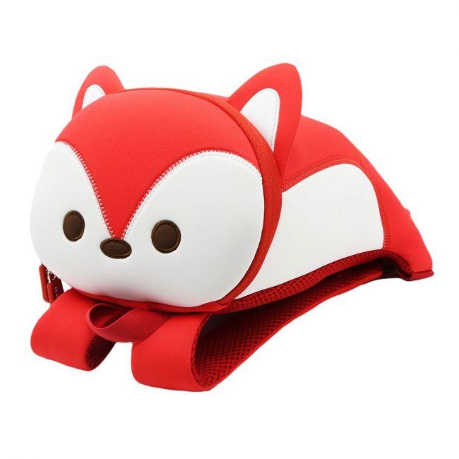 Nohoo Jungle 3D Anti Lost Red School Backpack - Fox