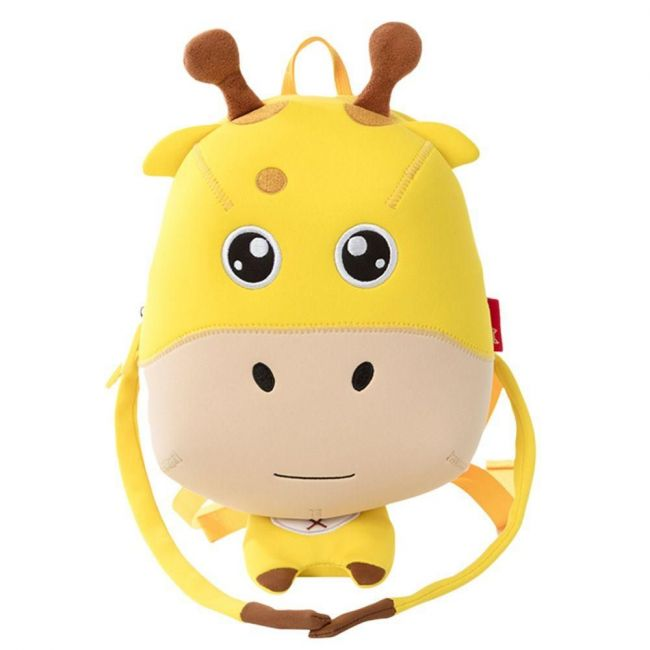 Nohoo Jungle Yellow School Backpack Anti Lost -Giraffe