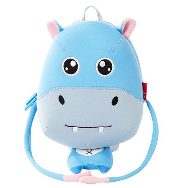 Nohoo Jungle Blue School Backpack Anti Lost - Hippo