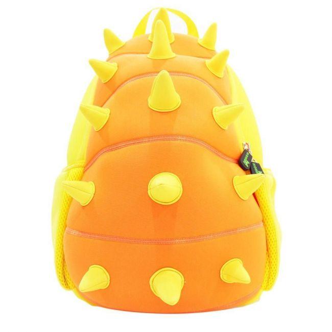 Nohoo Jungle Orange School Backpack - Spiky Dinosaur