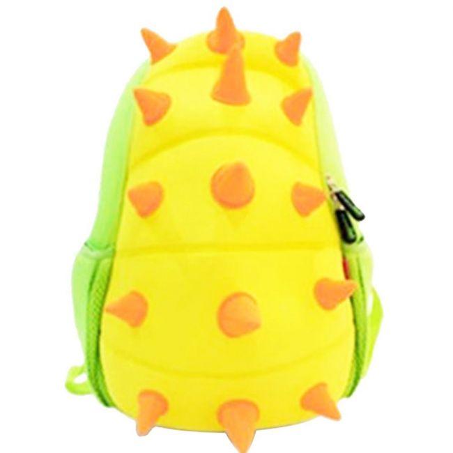 Nohoo Jungle Yellow School Backpack - Spiky Dinosaur