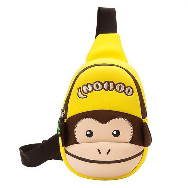 Nohoo Jungle School Chest Bag -Monkey
