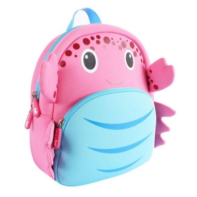 Nohoo Ocean Pink School Backpack - Crab