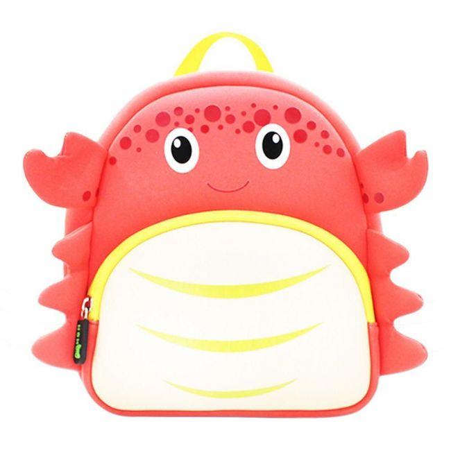 Nohoo Ocean Red School Backpack - Crab