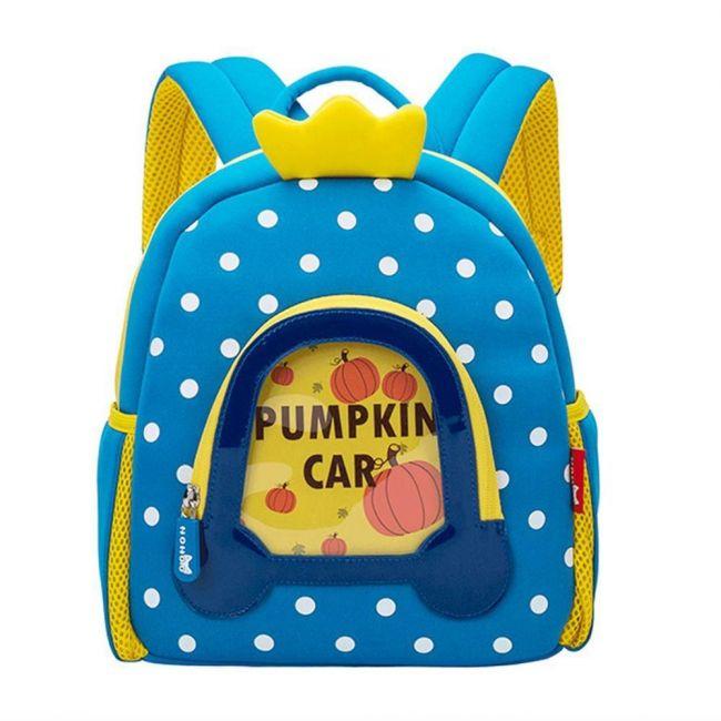 Nohoo Wow Blue School Backpack - Pumpkin Carriage