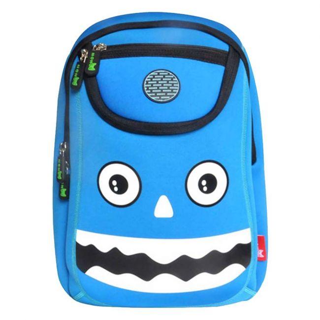 Nohoo Wow Blue School Bag - Monster