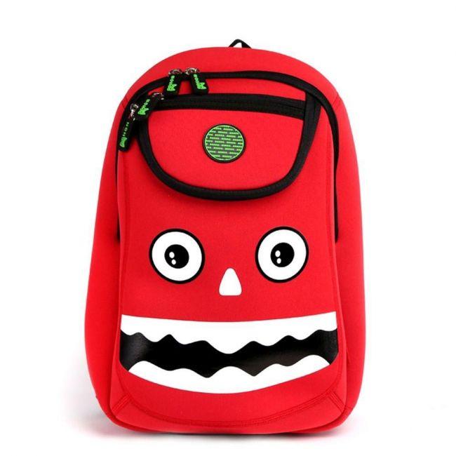 Nohoo Wow Red School Bag - Monster
