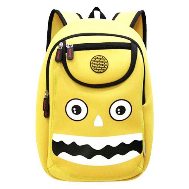 Nohoo Wow Yellow School Bag - Monster