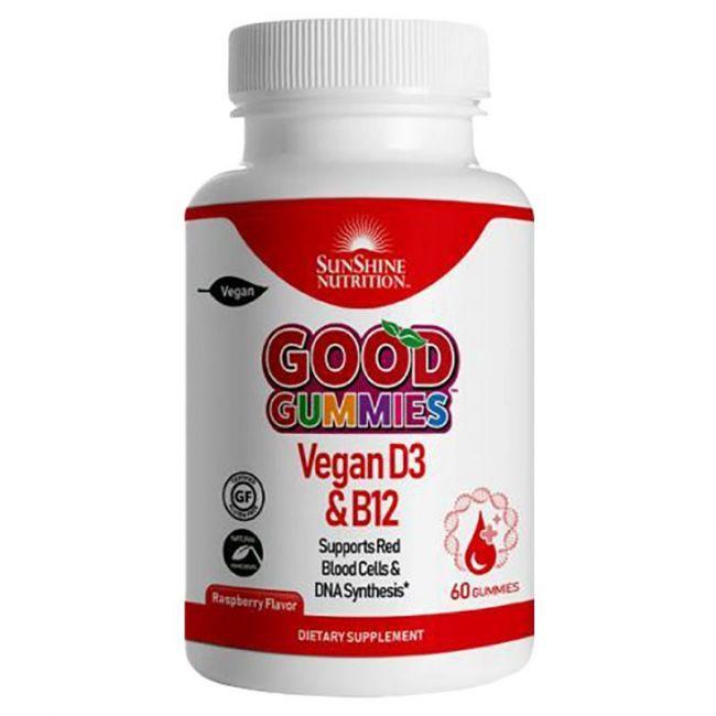 Sunshine Nutrition - Good Gummies Vegan D3 and B12 Gummies 60's