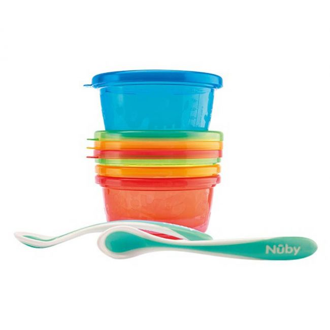 Nuby - Lunch Set 4 Bowls And 2 Spoons 300 Ml