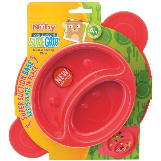 Nuby - Miracle Suction Plate Monkey 3 Piece