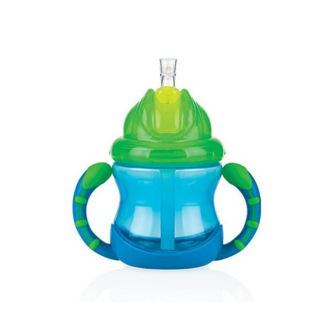 Nuby - No Spill Flip It Cup With Handles 240 Ml