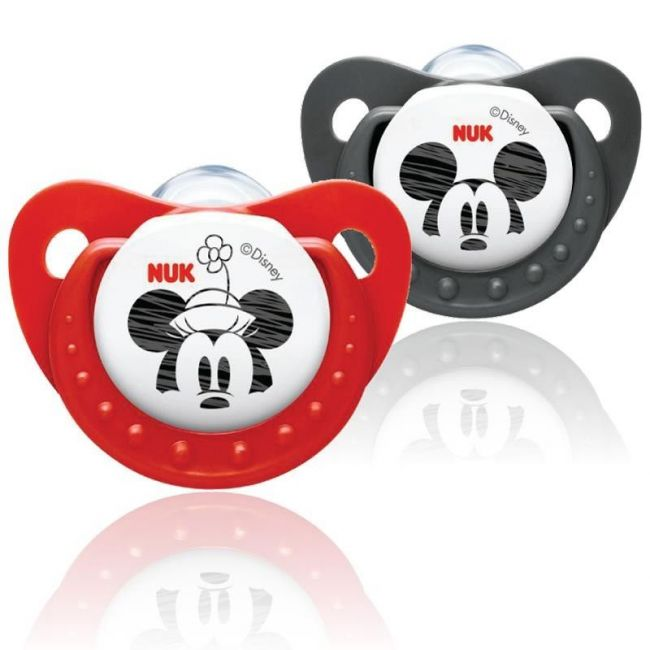 Nuk - Disney Mickey Trendline Silcone Soother 6-18M - 2Pcs - Red