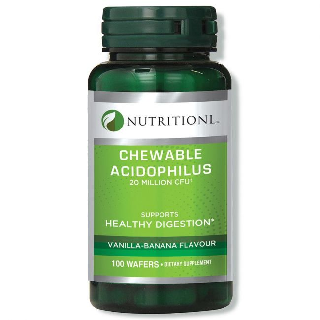 Nutritionl - Acidophilus Chewable 100 Wafers