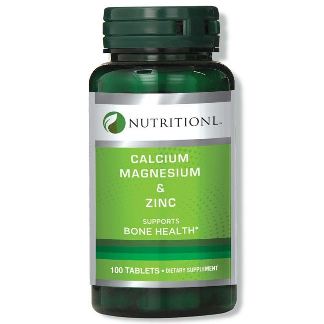 Nutritionl - Calcium Magnesium & Zinc 100 Tablets