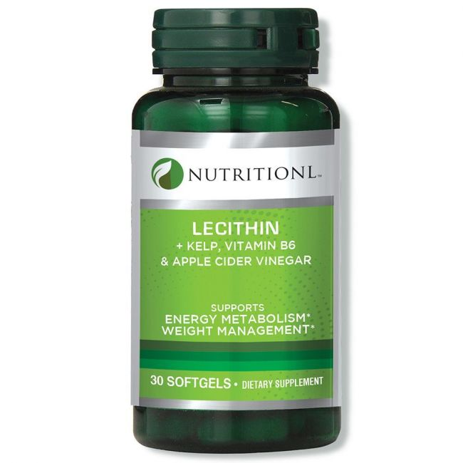 Nutritionl - Lecithin + Kelp Vit. B6 & Apple Cider Vinegar - 30s Softgels