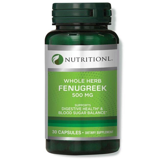 Nutritionl - Whole Herb Fenugreek 500mg 30 Capsules