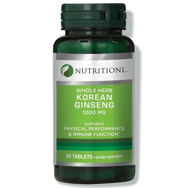 Nutritionl - Whole Herb Korean Ginseng 1000mg 60 Tablets