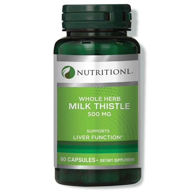 Nutritionl - Whole Herb Milk Thistle 500mg 60 Capsules