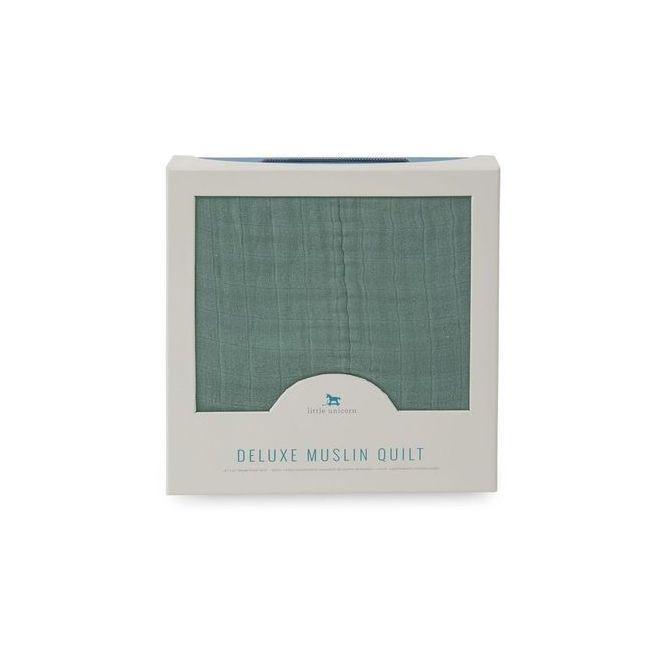 Little Unicorn - Deluxe Muslin Quilt - Green